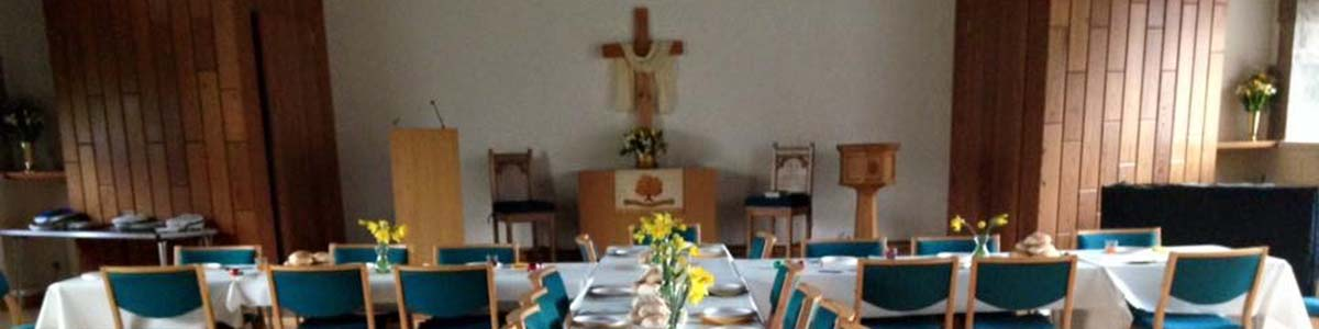 The church prepared fro Easter Morning breakfastLong